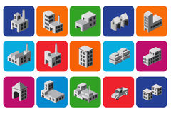 Set of icons Stock Photos