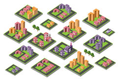 Set of icons isometric house Stock Images