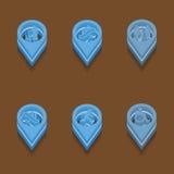 Set icons. Isometric style. Set of medical icons. Isometric style. Vector Stock Photography