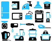 Kitchen home appliances vector illustration