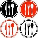Set icons with kitchen utensil Royalty Free Stock Images