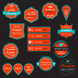 Set of  icons and labels Stock Images