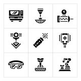 Set icons of laser Royalty Free Stock Image
