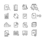 Set of icons linear design documents for business, finance and communication. Vector illustration. Set of icons linear design documents for business, finance Stock Photos