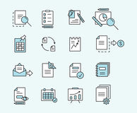 Set of icons linear design documents for business, finance and communication. Vector illustration. Stock Images