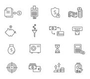 Set of icons linear design finance . Vector illustration. Set of icons linear design finance . Vector illustration Stock Photo