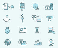Set of icons linear design finance . Vector illustration.  Stock Photography
