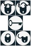 Set icons lock Royalty Free Stock Image