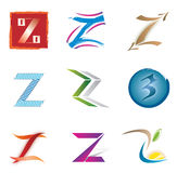 Set of Icons and Logo Elements Letter Z Royalty Free Stock Images