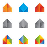 Set of Icons and Logo Home / House - Multiple Colors and Elements Royalty Free Stock Images