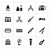 Set icons of manicure Royalty Free Stock Image