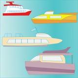 Set of icons marine yachts Stock Photo