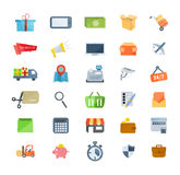 Set of icons of marketing, shopping, e-commerce, technical support, delivery. Stock Photo