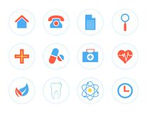 Set of Icons for Medical Centre Stock Photography