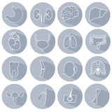 Set of icons on a medical theme Stock Photo