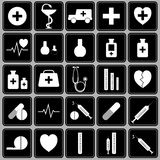 Set of icons on a medical theme.Vector Royalty Free Stock Photos