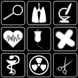 Set of icons (medicine) Royalty Free Stock Photography