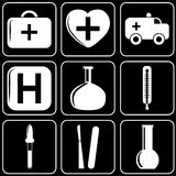 Set of icons (medicine) Royalty Free Stock Images