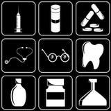 Set of icons (medicine) Stock Photo