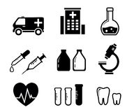 Set icons for medicine industry Stock Photography