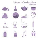 Set of icons meditation Royalty Free Stock Photo