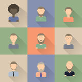 Set of icons of men in flat style Stock Photo