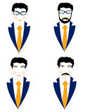 Set of the icons men Stock Photos