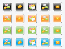 A set of  icons on the message Royalty Free Stock Photography