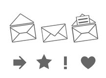 Set of icons for messages Royalty Free Stock Image