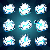 Set of icons messages envelop for email Stock Images