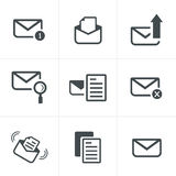 Set of icons for messages. Stock Photo