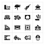 Set icons of mining Royalty Free Stock Photos