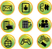 A set of icons for mobile communication Royalty Free Stock Photo