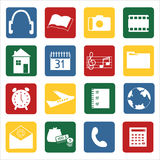 Set of icons for mobile devices Stock Photos