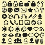 Set of Icons for Mobile, Media and Web stock illustration