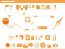 set icons modes of transport. navigation Royalty Free Stock Photography