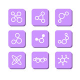 Set with icons - molecules Stock Photography