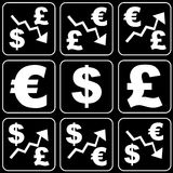 Set of icons (money, finance, business) Royalty Free Stock Photo