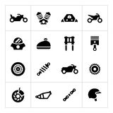 Set icons of motorcycle Stock Images