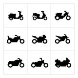 Set icons of motorcycles Royalty Free Stock Images