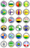 Set of icons. Municipalities of the Puerto Rico. Royalty Free Stock Photography