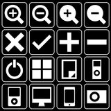 Set of icons (music, player) Stock Photography