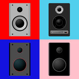 Set Icons music speakers Royalty Free Stock Images