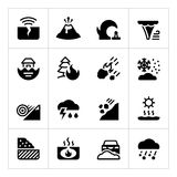 Set icons of natural disaster Royalty Free Stock Photos