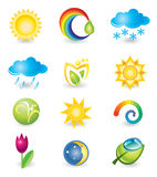 Set of icons. Nature and weather Royalty Free Stock Images