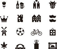 Set of icons for the Netherlands Royalty Free Stock Photos