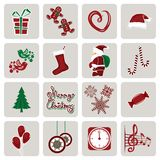 Set of icons for New Year and Christmas Royalty Free Stock Photo