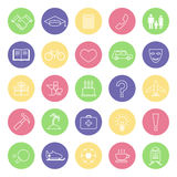Set of icons for notebook Stock Photography