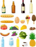 Set Icons Of Foods Stock Images