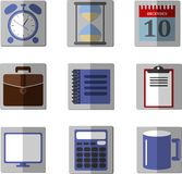 Set of  icons for office. Set of flat icons for office Royalty Free Stock Photo